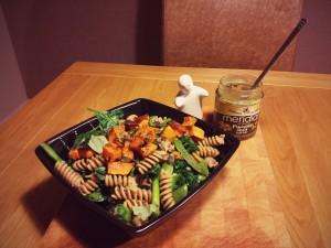 Pump-in Pumpkin Pesto Pasta - perfect for Halloween