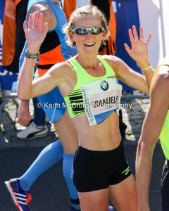 "A ""Run Happy"" moment finishing with a new PB of 2:28:04"